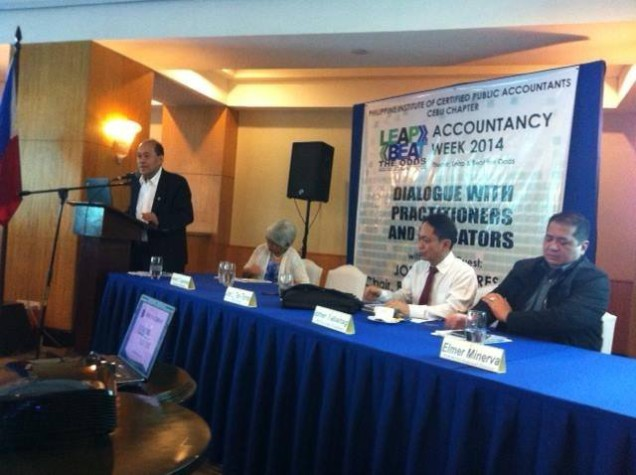 Hon. Joel Tan Torres, Chairman of the PRC Board of Accountancy, in his Dialogue with Practitioners and Educators. (July 12, 2014 at City Sports Club 2-5pm)