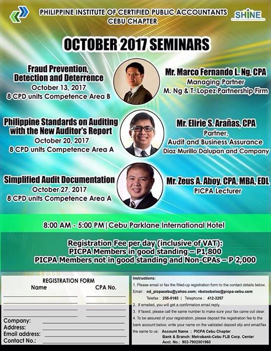 October 2017 Seminar